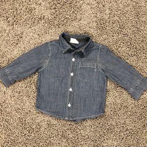 5/$25 Boys Denim Chambray shirt, 6-12 months